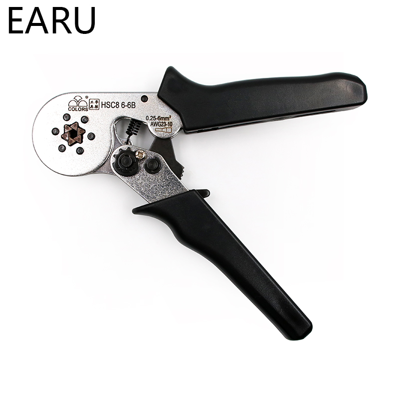 HSC8 6 4 HSC8 6 6 6 6A 6 6B 6 4A 6 4B 16 4 ADJUSTABLE CRIMPING PLIER AWG 0 25 6mm2 Pliers Hand Tools VE Terminals Ferramentas in Pliers from Tools