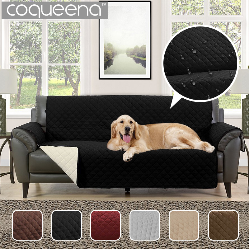 Waterproof Quilted Sofa Covers for Dogs Pets Kids Anti-Slip Couch Recliner Slipcovers Armchair Furniture Protector 1/2/3 Seat recliner