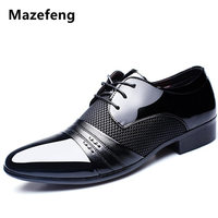 2017 New Fashion Height Increasing Men Flats Shoes Breathable Wedding Shoes Flat Men Dress Shoes Business