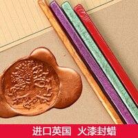 England Sealing Wax Sticks Retro Seal Stamp Metallic Vintage Wax Stick Vino Tinto Sellado Sax Palillo