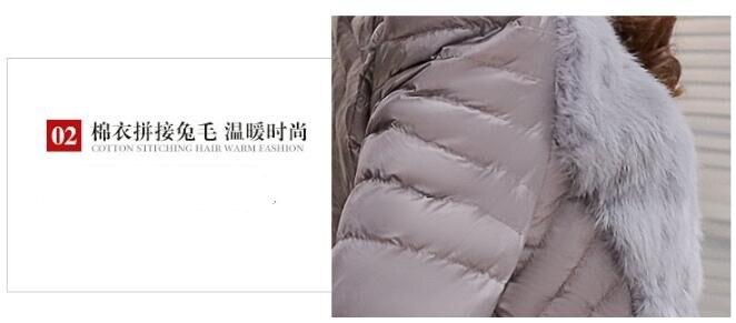 2019 Winter Jacket Women Rabbit Fur Slim Warm Winter Coat Long Elegant Outwear Parkas Plus Size 3XL in Parkas from Women 39 s Clothing
