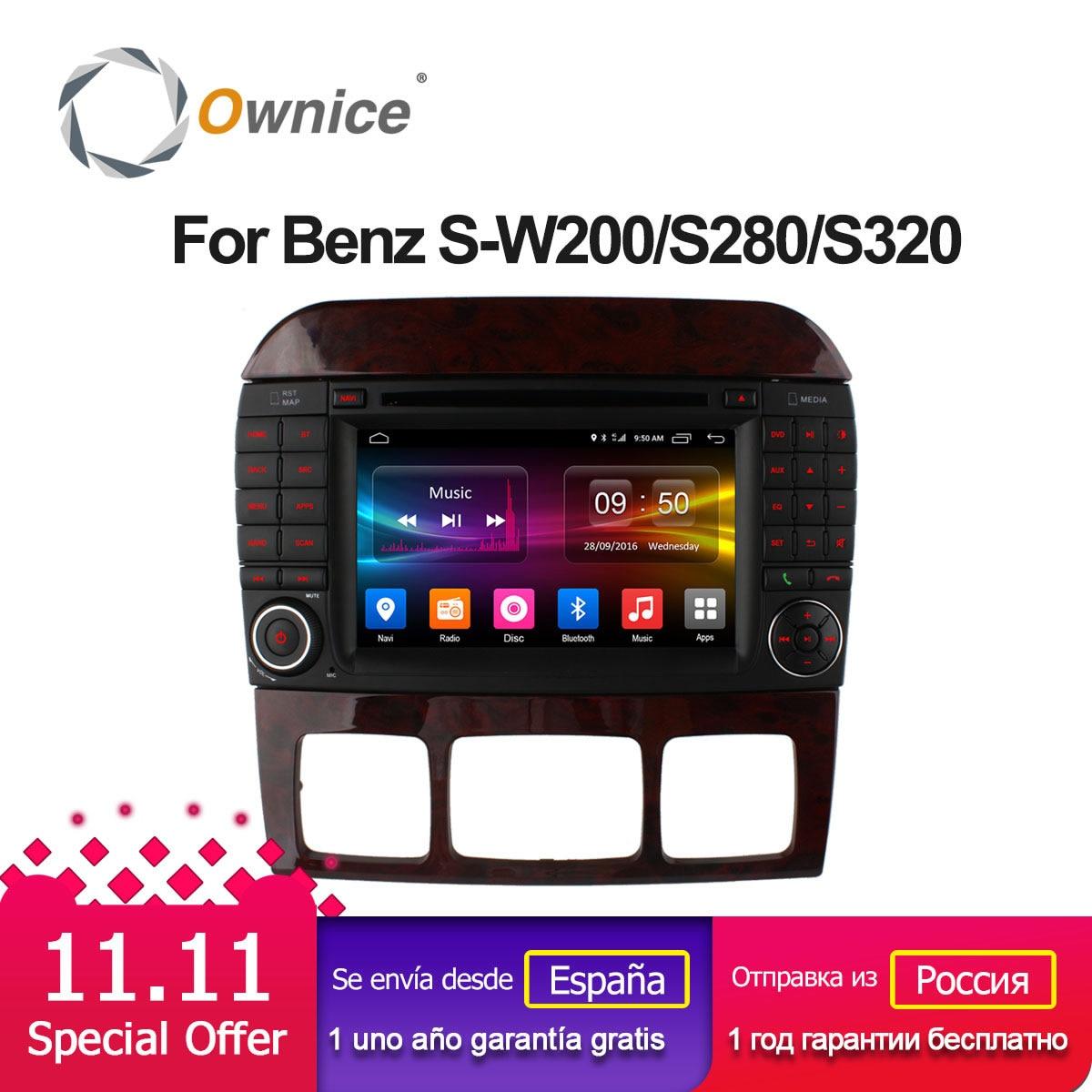 Ownice C500 الروبوت 6.0 الثماني النواة سيارة مشغل ديفيدي لمرسيدس S الدرجة W220 S280 S320 S350 S400 S420 S430 GPS نافي راديو wifi 4 جرام
