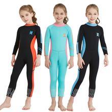 Dragonpad/Детский Теплый цельный купальный костюм унисекс с длинными рукавами и защитой от ультрафиолета