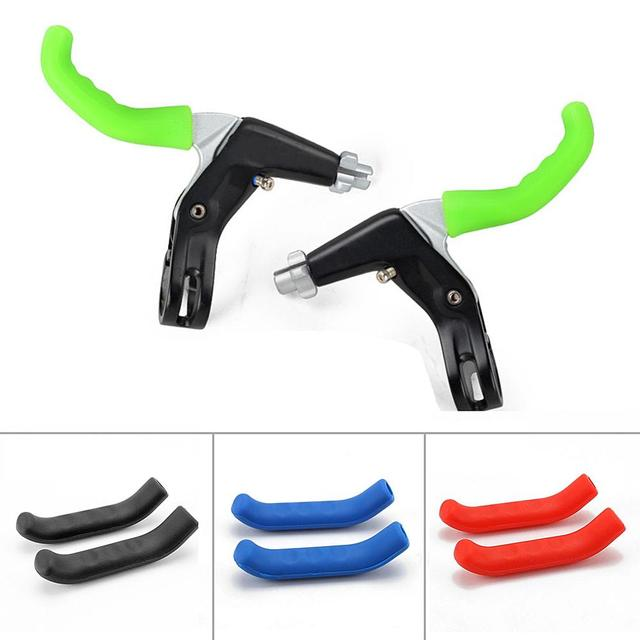 Bicycle Brake Handle Cover Bike Brakes Silicone Sleeve Universal Type Brake Lever Protection Covers Cycling Accessory