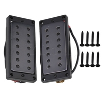 Yibuy 52mm 55mm Humbucker Pickups Set for 7 String Electric Guitar Black