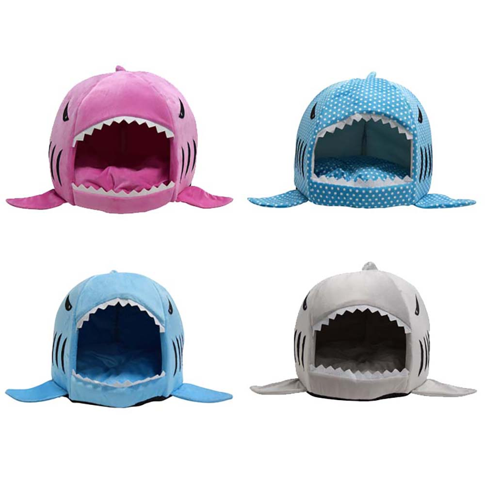 Wholesale Soft Dog House For Large Dogs Warm Shark Dog House Tent High Quality Small Cat Bed Puppy House The Best Pet Product