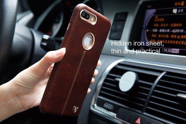 Nillkin englon lindo para iphone 7 plus funda de cuero de la pu de la vendimia contraportada para iphone 7 plus trabajo caso con soporte para teléfono magnética