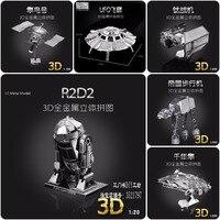 2015 New Star Wars Millennium Falcon UFO R2D2 Fun Metal 3d Diy Steel Scale Miniature Model