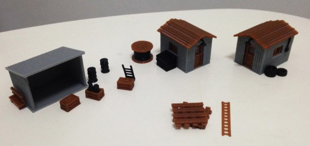 US $15 5  1:87 Model Train ho scale streetscape cabin miniatures diy kit  architectural model material sand table model materials-in Model Building
