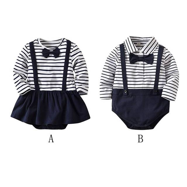 6b07c65ea Baby Bodysuits Gentlemen s Style Outfits Cotton Toddler Girls ...