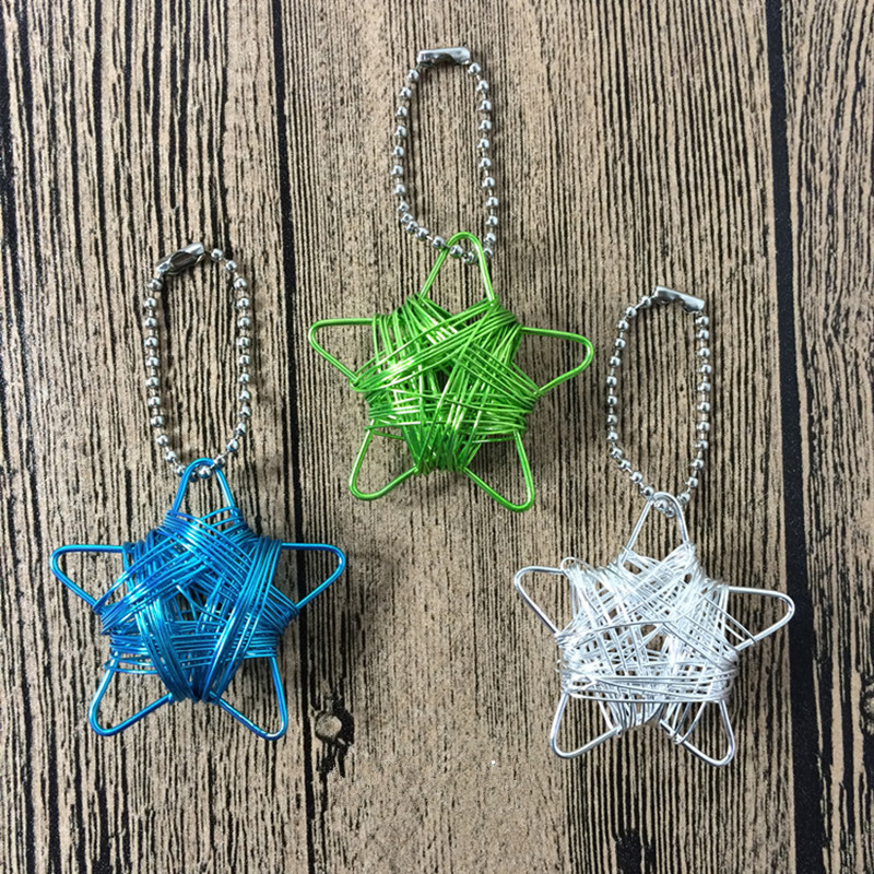 Wholesale home handicraft pendant star iron wire handmade pentagramme for christmas home and party decorate free