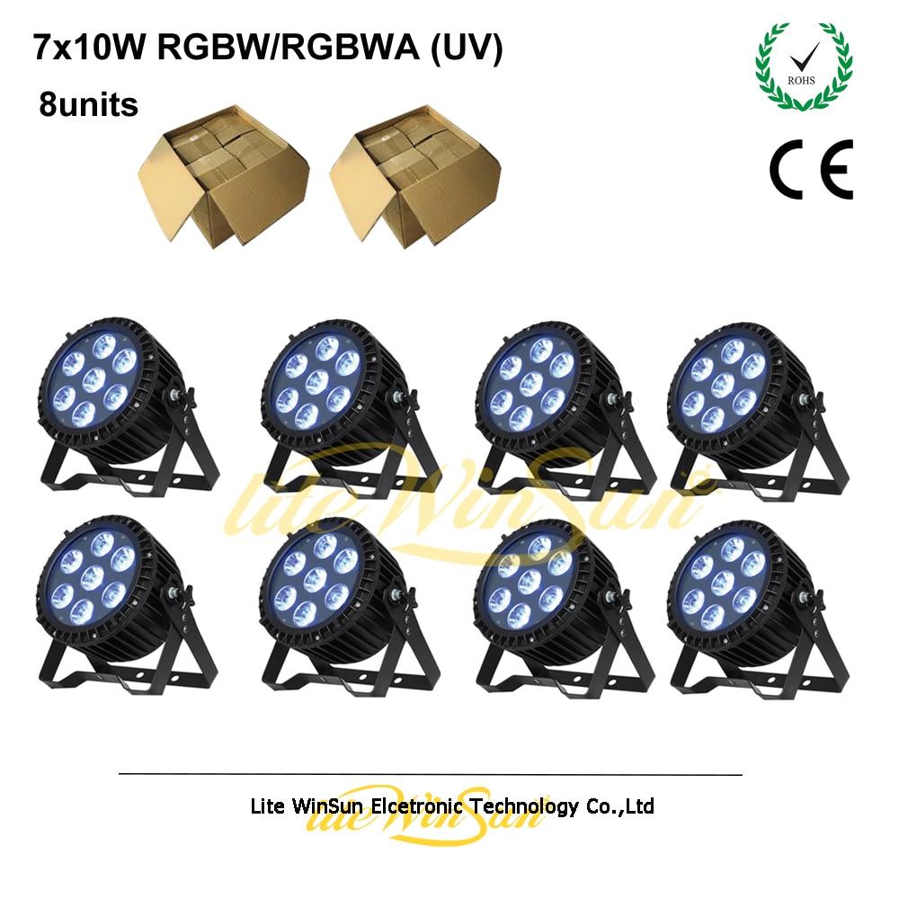 Litewinsune CRI 90 Non flicker Slim Par LED 7*10W Quad Color DMX Stage Lighting free shipping cri 90