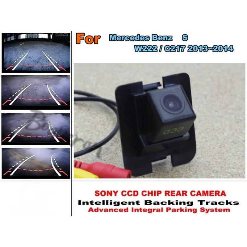 For Mercedes Benz S W222 / C217 2013~2014 Smart Tracks Chip Camera / HD CCD Intelligent Dynamic Parking Car Rear View Camera купить