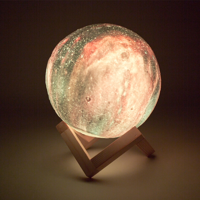 Dropship New Arrival 3D Print Star Moon Lamp Colorful Change Touch Home Decor Creative Gift Usb Led Night Light Galaxy Lamp 2