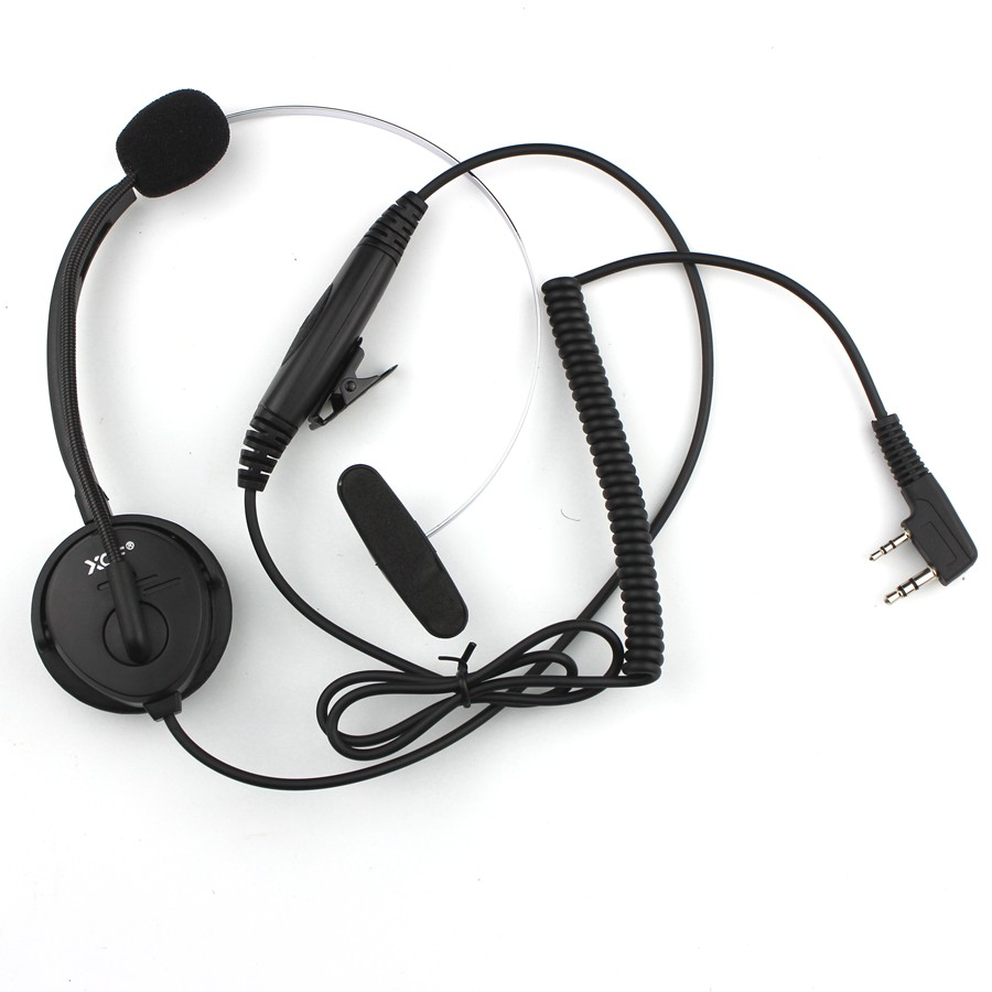 K Plug Headphone Single Headset Collar PTT With Microphone For Kenwood Radio BAOFENG UV-5R UV-5RE Plus UV-82 GT-3