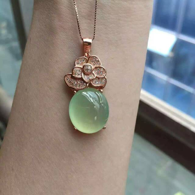 gift ringanniersary anniersary jewelry carat ring with handcrafted media in ringgiftengagement engagement prehnite ringgreen diamonds green gemstone rose gold