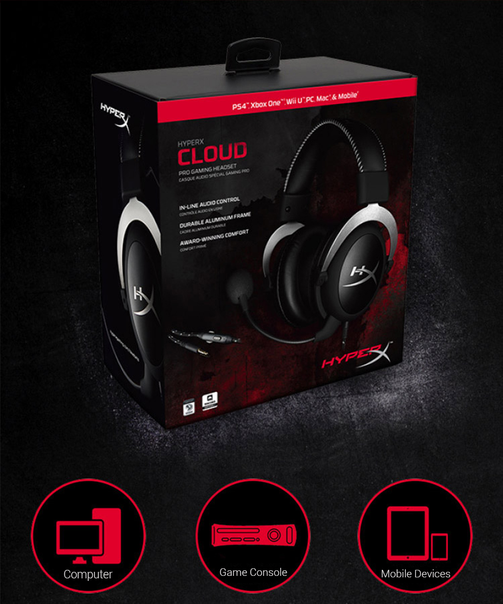 Kingston HyperX Cloud Silver Gaming Headphone with Microphone (12)