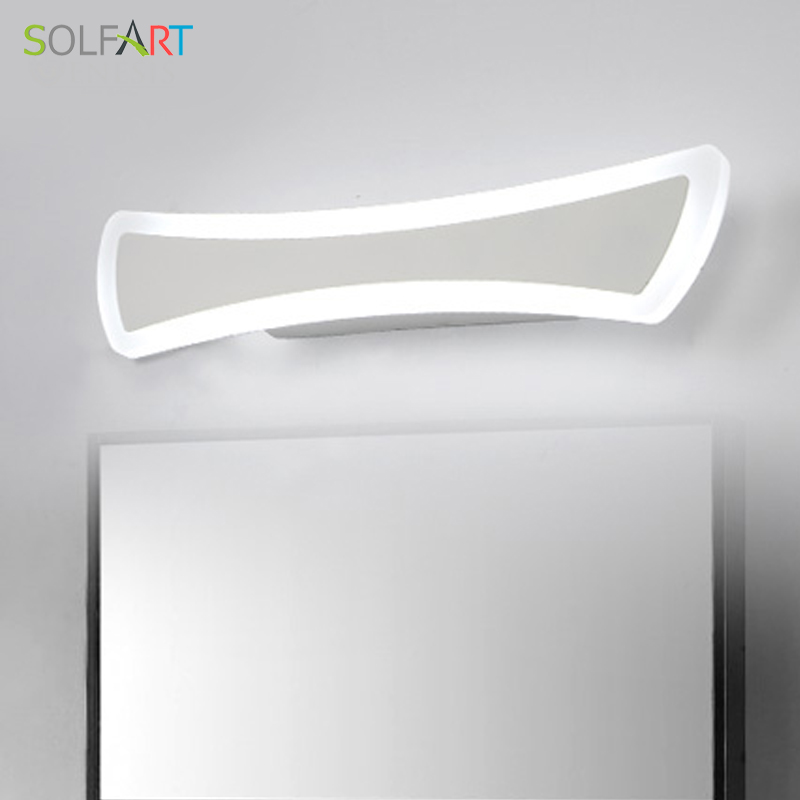 SOLFART wall lamp modern led sconce wall lights iron paint acrylic Mirror front lamp bathroom lamp mirror light ps5246 weiqin new 100