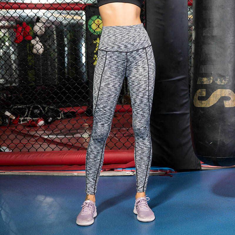 נשים יוגה מכנסיים גבוה מותן אלסטי מהיר יבש סקיני Slim Fit מכנסיים עבור ספורט H9