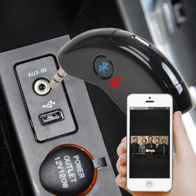 Universal Car 3.5mm A2DP AUX Bluetooth Wireless Audio Receiver AUX Music Hands-free Adapter Car Home Phone Stereo Speaker