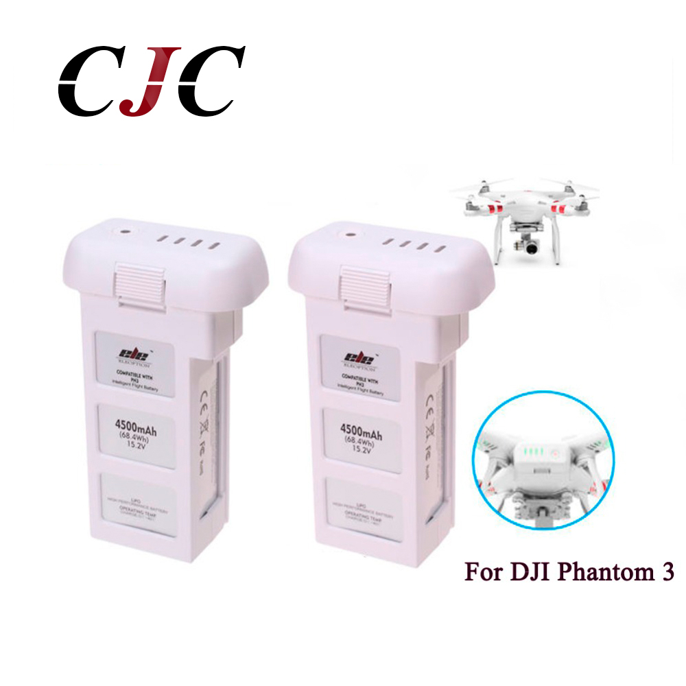 2X Intelligent Flight Battery 4S 15.2V 4500mAh For DJI Phantom 3 Series Accessories Battery For DJI Phantom 3&Phantom 3 Standard dji phantom 3 car charger battery