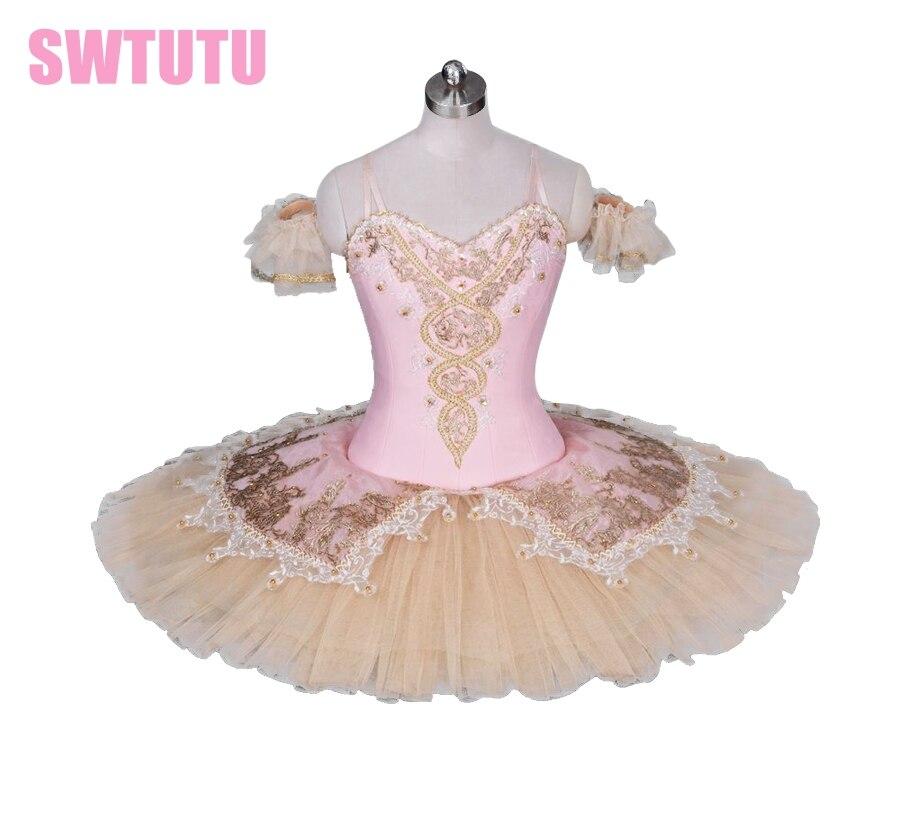 Adulte rose pêche casse-noisette tutu de danse classique femmes professionnel tutu de ballet filles ballet stade costumeBT9034
