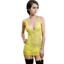 RH80044 Three colors new arrival intimate lingerie sexy women fashion style sex babydoll see through short lace chemise