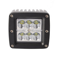 Free Shipping 20pcs Hot 3x3in 18W Cube Pod Flush Mount Fog Lamp 4x4 Powersports Work Light