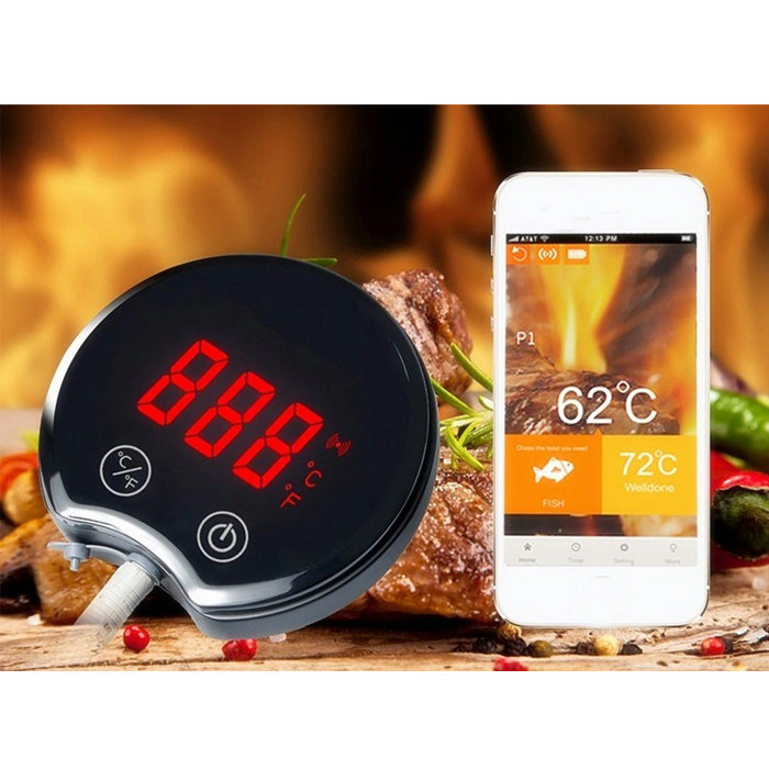Best Digital Cooking Thermometer for Roasting & Grilling -Meat Thermometer Instant Read bluetooth monitor on your phone remotely  цены