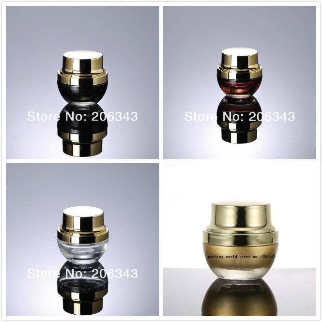 20G red black gold transparent glass jar pot for cream essence mask serum gel moisturizer skin