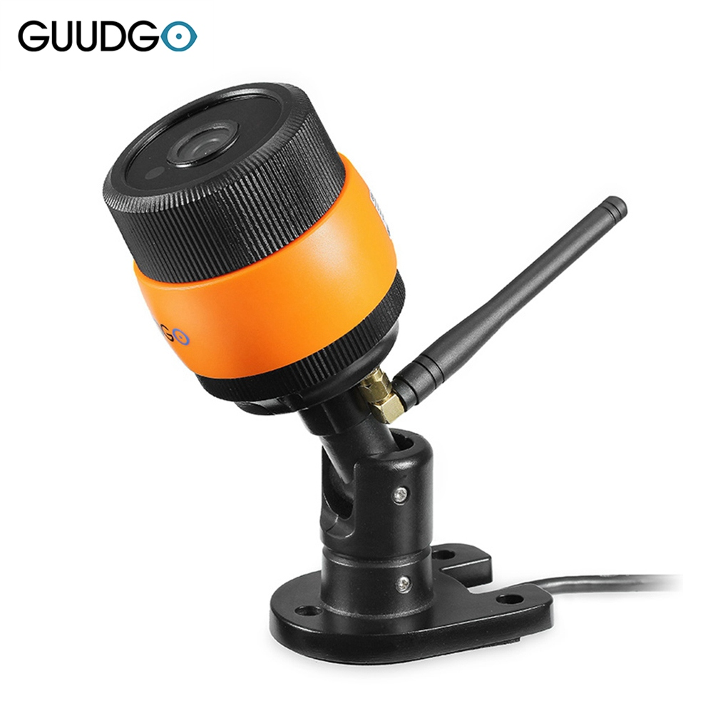 GUUDGO GD-SC01 720P Waterproof Wifi IP Camera Outdoor Bullet IR Night Vision CCTV Security Surveillance Camera Support Up to 64G ssicon 1 0mp 1 3mp wireless surveillance cctv camera ip 3 array leds waterproof wifi camera bullet outdoor support 64g sd card