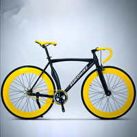 New Fixed Gear Bike 700CC Wheel 52cm Aluminum alloy Frame Muscle Road Bicycle Fixie Fiets Bicicleta
