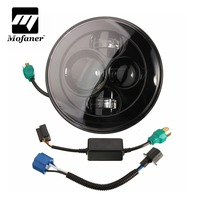 New New 7 Inch Motorcycle Projector Daymaker Hi Lo LED Light Bulb Headlight For Harley
