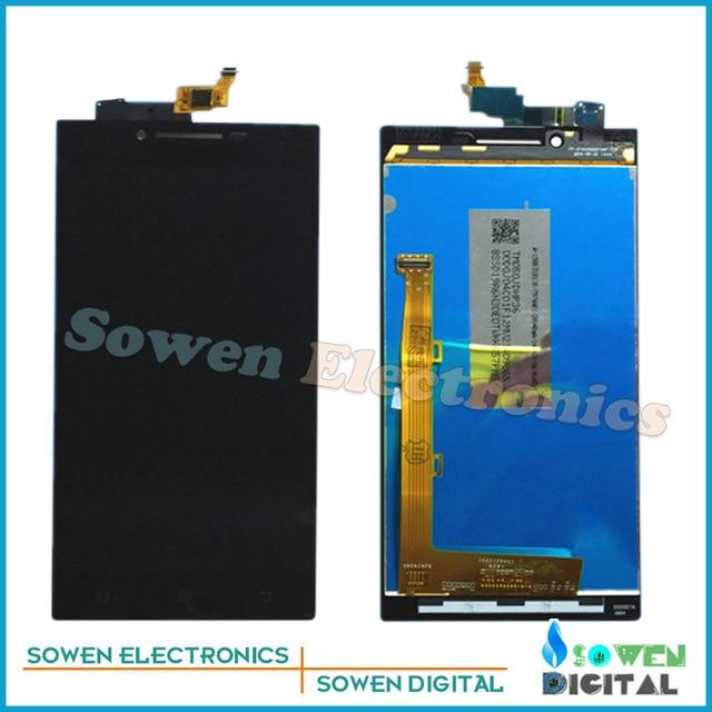 Para lenovo p70 p70-t p70t screen display lcd com tela de toque digitador montagem conjuntos completos, preto ou branco