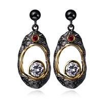 Brand Earrings For Women Fashion Jewelry Black Gold Color Drop AAA Cubic Zirconia Earrings Body Jewelry