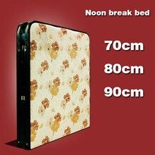 Одиночная простая подкрепленная складная кровать Повседневная офисная обеденная Сиеста складная кровать домашняя чаперон кровать