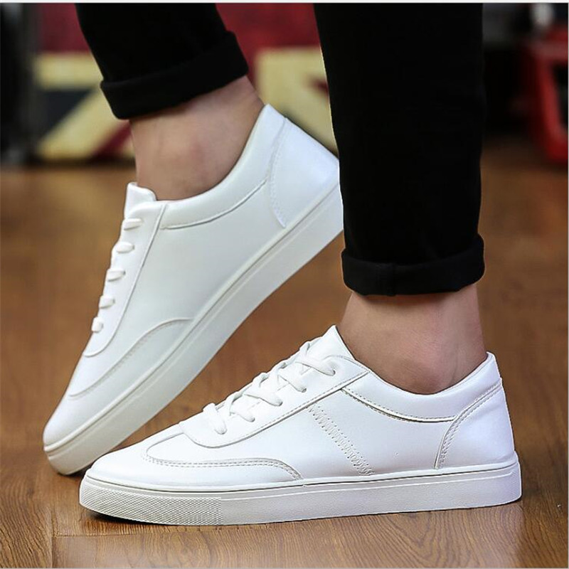 Luxe Chaussures Mode Respirant Casual De Pu blanc Noir Automne Hommes Marque Sneakers 2017 TYqwZ5Fn