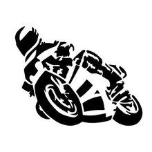 Motorcycle Guy Racer Home Decor Cool Graphics Car Truck Window Vinyl Decal Accessories Sticker