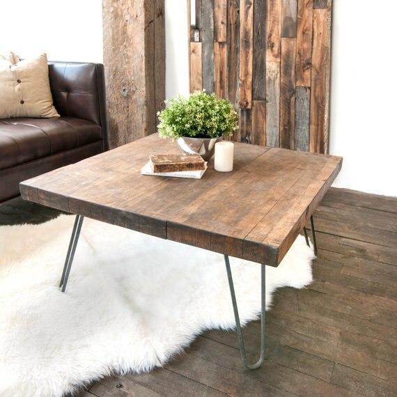 ijzer hout meubels amerikaanse land retro vierkant woonkamer ...