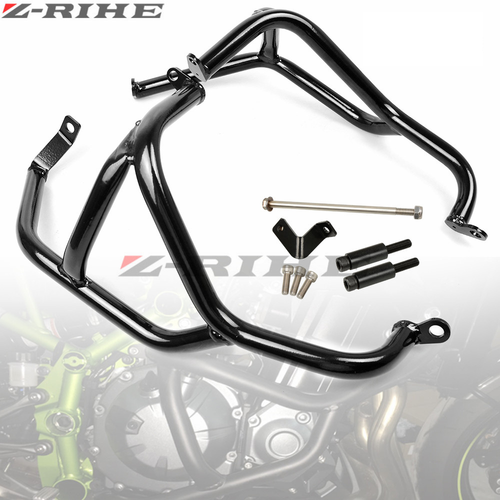 ZRIHE Z900 2017 Z 900 Crash Bar For Kawasaki Z900 2017 Motorcycle Accessories Z900 2017 Engine Guard Frame Protection Moto cnc engine cover crash frame protector slider for kawasaki z900 z 900 2016 2017 motorcycle parts accessories aluminum anodized