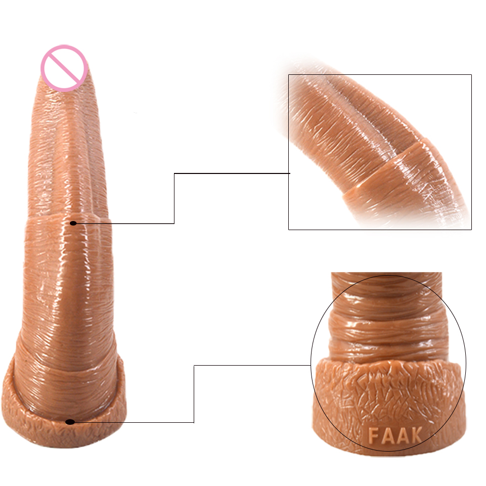Animal Anal Sex Porn us $27.2 20% off faak super huge penis animal elephant snout dildo anal sex  toy porn for adult women men couples sex machine plug big ass pussy-in