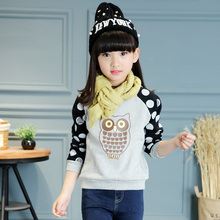 2017 Winter explosion models girls and children velvet sweater special sales in the United States the size of children's clothin