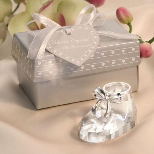 baby favor and gift crystal by fashion craft baby shoe baby shower favors with retail