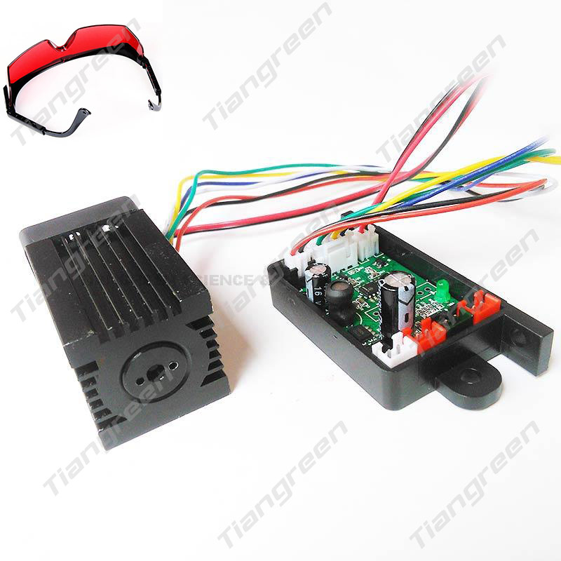 New Arrival 200mW 532nm Green Diode Laser Module with TTL Laser Diode Driver Free Safe Goggles new for ford focus ii da