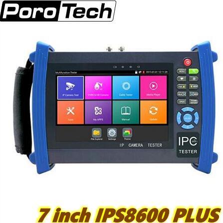 7 Inch Multi-function CCTV Tester HDMI 1080p Input Monitor For IP, AHD, HD-CVI, TVI SDI & Analog Security Camera IPC8600MOVTADHS