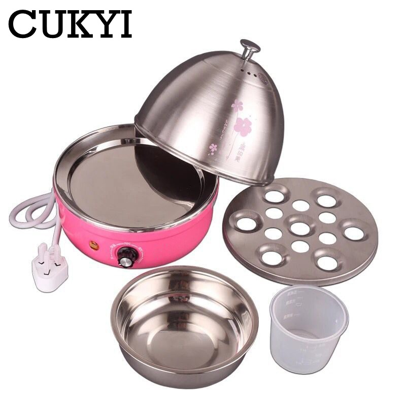 CUKYI 380W 220V/50Hz 7 Eggs Diverse Colors Multifunctional Electric Boiler Stainless Steel Mini Steamer Kitchen Cooking ToolCUKYI 380W 220V/50Hz 7 Eggs Diverse Colors Multifunctional Electric Boiler Stainless Steel Mini Steamer Kitchen Cooking Tool