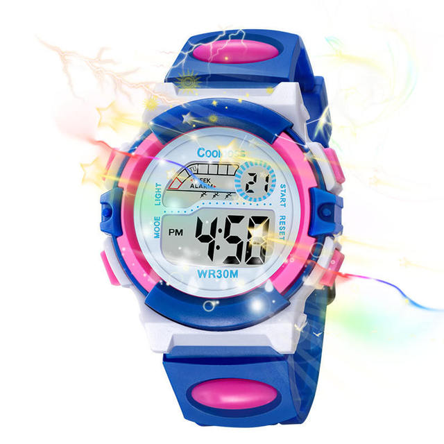 5 Colors Sports Children's Watch Child Alarm Clock Watches Calendar Date LED Wat