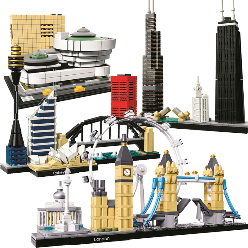 Creator Architecture Sydney Skyline Building Blocks Sets City Bricks Classic Model compatible legoINGly Toys for children giftsCreator Architecture Sydney Skyline Building Blocks Sets City Bricks Classic Model compatible legoINGly Toys for children gifts