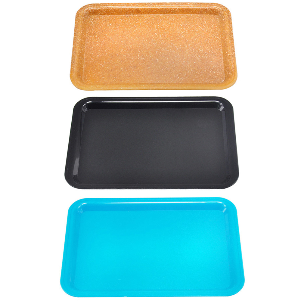 1Pcs Plastic Tobacco Tray  Herb Spice Rolling Trays DIY Smoking Accessories Storage Tray 17.8*12.1CM