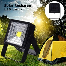 Portable Solar Powered LED Rechargeable Bulb Light Yard Outdoor Camping Lamp